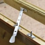 8' x 6' Shed-Plus Champion Heavy Duty Workshop with Logstore - Window Latch