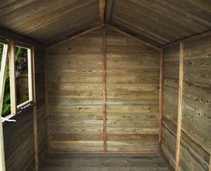 8' x 6' Shed-Plus Heavy Duty Tongue and Groove Wooden Shed Internal View