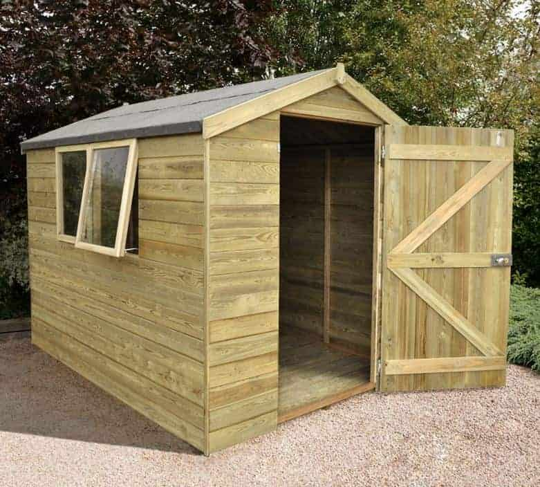 8' x 6' Shed-Plus Heavy Duty Tongue and Groove Wooden Shed