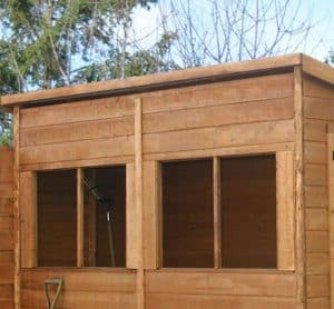 8'3 x 4' Windsor Shiplap Pent Shed Windows