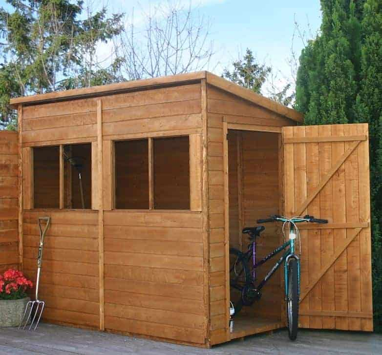 8'3 x 4' Windsor Shiplap Pent Shed