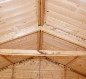 10' x 10' Windsor Groundsman Workshop Shed Ceiling