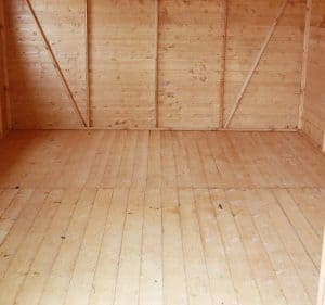 10' x 10' Windsor Groundsman Workshop Shed Inside View