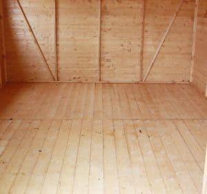 10' x 10' Windsor Groundsman Workshop Shed Inside View