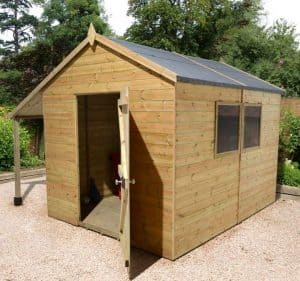 10' x 6' Shed-Plus Champion Heavy Duty Workshop with Logstore - Single Door 2
