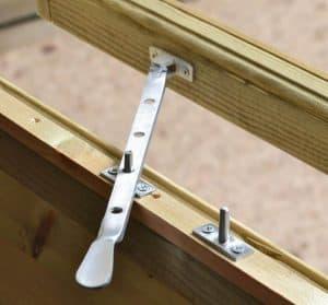 10' x 6' Shed-Plus Champion Heavy Duty Workshop with Logstore - Single Door Window Latch