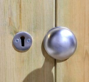 10' x 8' Shed-Plus Champion Heavy Duty Apex Double Door Shed - Door Handle
