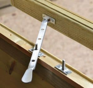 10' x 8' Shed-Plus Champion Heavy Duty Apex Double Door Shed Window Latch