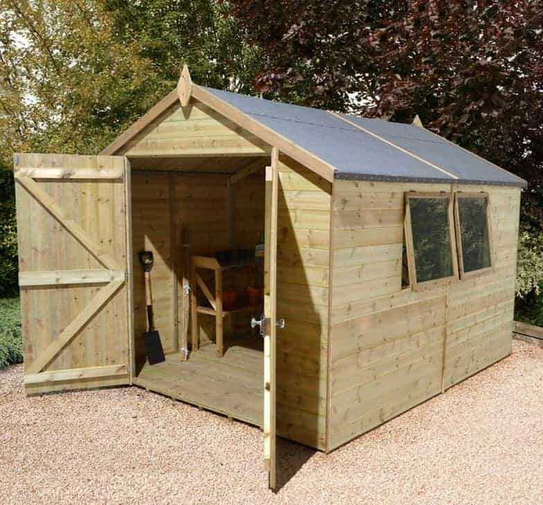 10' x 8' Shed-Plus Champion Heavy Duty Apex Double Door Shed