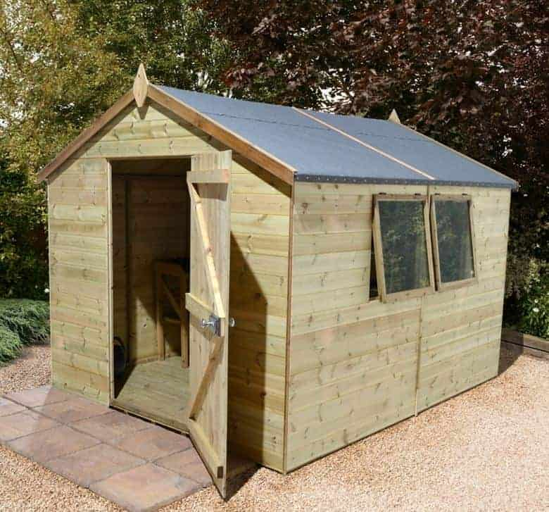 10' x 8' Shed-Plus Champion Heavy Duty Apex Single Door Shed