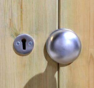 10' x 8' Shed-Plus Champion Heavy Duty Reverse Apex Single Door Shed - Door Handle