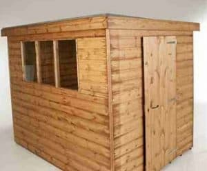 10' x 8' Traditional Standard Pent Shed Unpainted