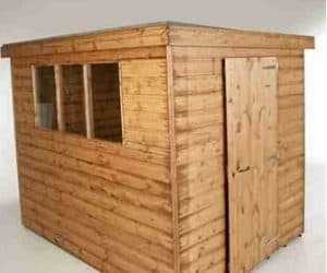 12' x 6' Traditional Standard Pent Shed Unopainted