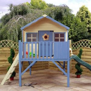 13' 8 x 6' 6 Honeysuckle Playhouse with Tower & Slide