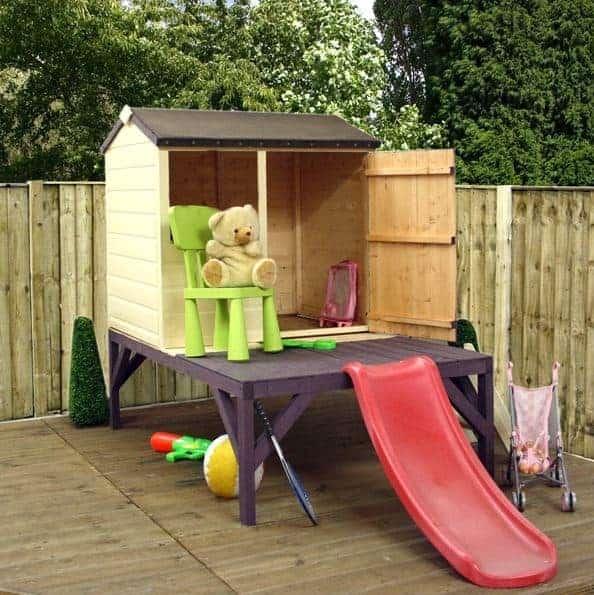 4 x 3 Jasmine Tower and Slide Playhouse