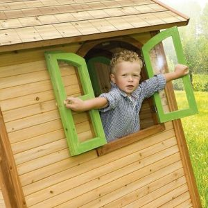 4 x 4 Julia Axi Playhouse Open Roof Windows and Cladding