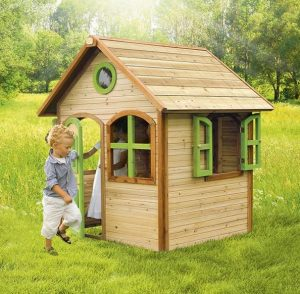 4 x 4 Julia Axi Playhouse Open doors and windows