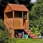 4 x 4 Waltons Honeypot Stockade Tower Outdoor Boys Playhouse