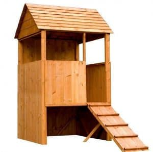 4 x 4 Waltons Honeypot Stockade Tower Outdoor Boys Playhouse Front