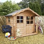 5 x 5 Waltons Honeypot Poppy Wooden Playhouse Side View