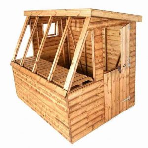 6' x 6' Traditional Potting Shed 6' Gable Unpainted