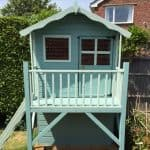 7 x 5 Waltons Honeypot Poppy Tower Wooden Playhouse Front View