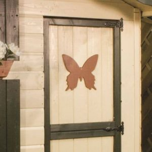 7 x 5 Waltons Honeypot Snowdrop Cottage Wooden Playhouse with Loft Door with Butterfly Design