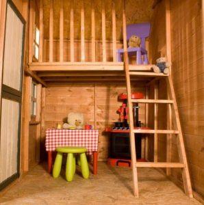 7 x 5 Waltons Honeypot Snowdrop Cottage Wooden Playhouse with Loft Internal View
