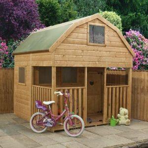 7 x 7 Waltons Dutch Barn Veranda Outdoor Playhouse Feature