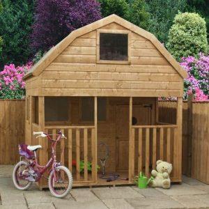 7 x 7 Waltons Dutch Barn Veranda Outdoor Playhouse Front