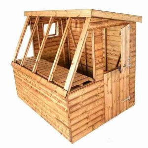 8' x 6' Traditional Potting Shed 6' Gable Unpainted