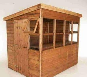 8' x 6' Traditional Sun Pent 6' Gable Shed Unpainted