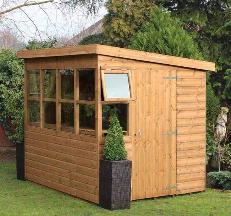 8' x 6' Traditional Sun Pent 6' Gable Shed