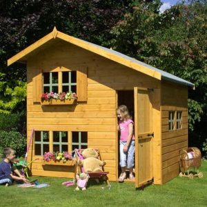 8 x 6 Waltons Honeypot Bramble Wooden Playhouse Open Door