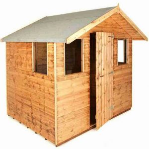 8' x 8' Traditional 8' Cabin Shed Unpainted