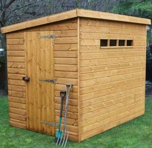 8' x 8' Traditional Pent Security Shed