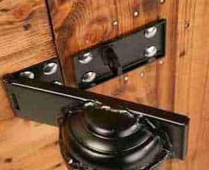 8' x 8' Traditional Pent Security Shed Lock