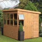 8' x 8' Traditional Sun Pent 8' Gable Shed