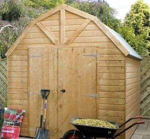 8' x 8' Windsor Groundsman Dutch Barn Shed Closed Door