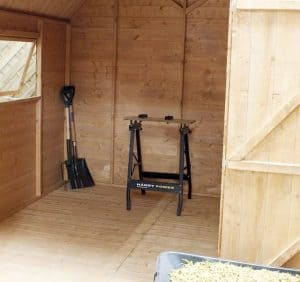8' x 8' Windsor Groundsman Dutch Barn Shed Internal View