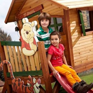 9 x 5 Winnie The Pooh Axi Playhouse with Slide