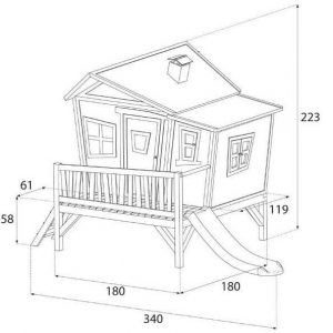 11 x 6 Emma Axi Playhouse Overall Dimensions