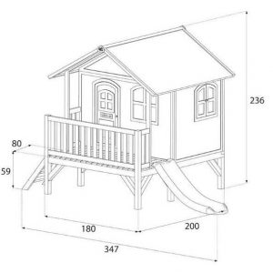 11 x 6 Stef Axi Playhouse Overall Dimensions