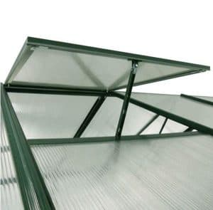 12' x 8' Nison EaZi-Click Green Polycarbonate Greenhouse Roof Panel