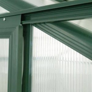 12' x 8' Nison EaZi-Click Green Polycarbonate Greenhouse Steel Panel