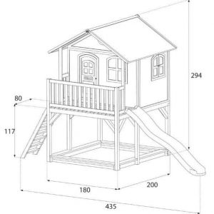14 x 6 Marc Axi Playhouse Overall Dimensions