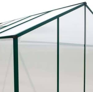 4' x 6' Evesham Lean-To Greenhouse with FREE Base Gutter Polycarbonate Glazing