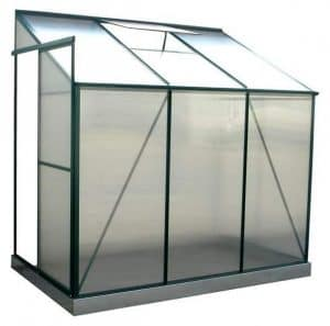 4' x 6' Evesham Lean-To Greenhouse with FREE Base Gutter Side View