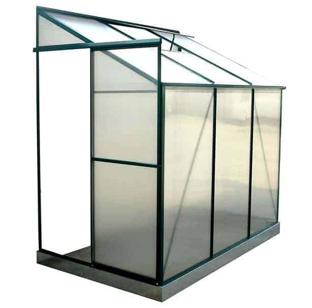 4u0027 x 6u0027 evesham leanto greenhouse with free base no wall