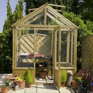 6 x 6 Waltons Pressure Treated Wooden Greenhouse